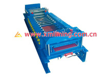 Roll Forming Machine 1 for heat-preserving panel (box shape), cut-off & folding in the same machine