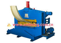 Crimping curved machine for standing seam profile