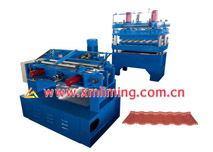 Hydraulic press for tile roof profile