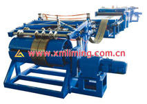 Sample slitting/re-coiling line