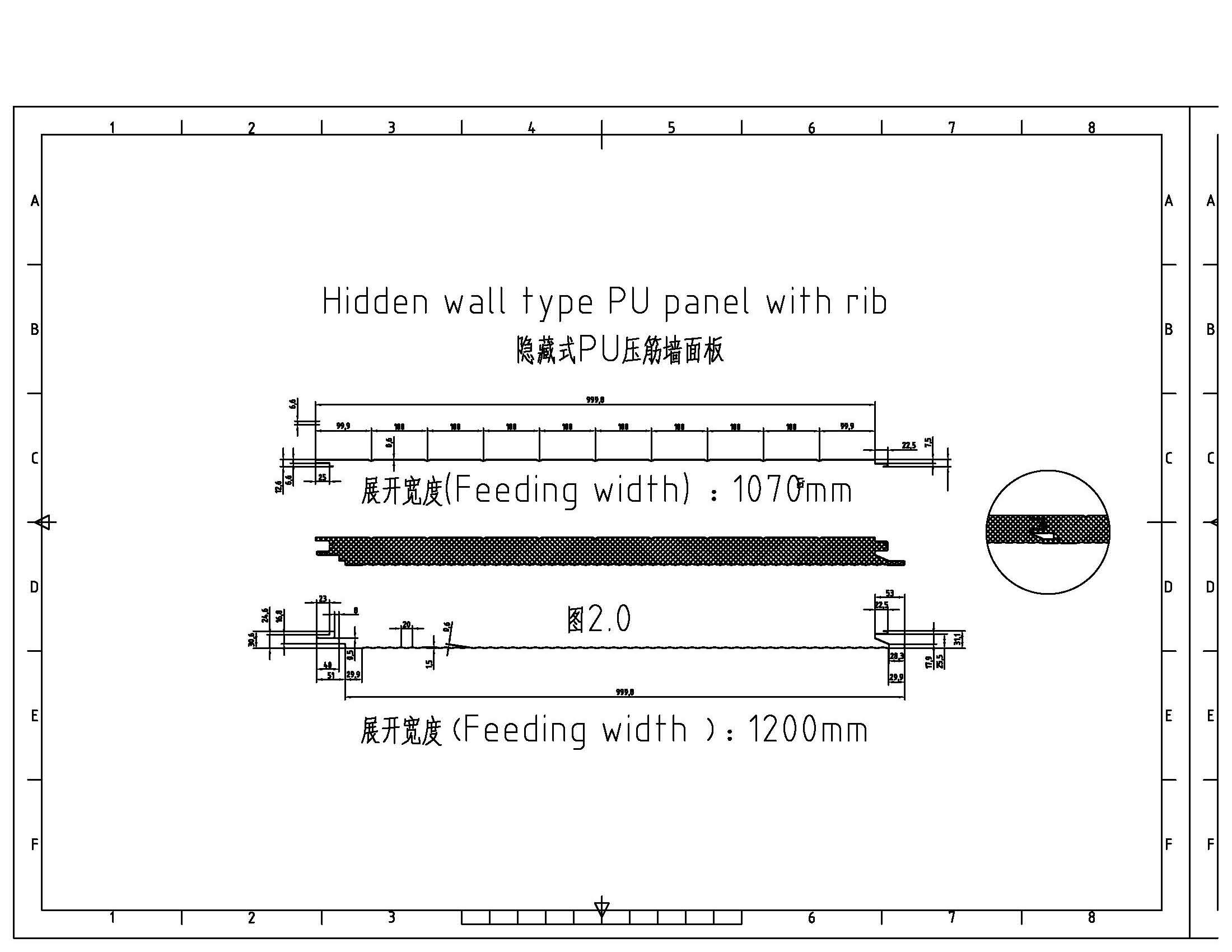 Hidden Wall Sandwich Panel with Rib