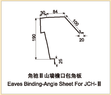 Eaves Binding-Angle Sheet For JCH-III